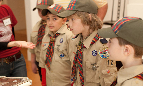 A photo of Boy Scouts on the Exploring America tour in 2010.