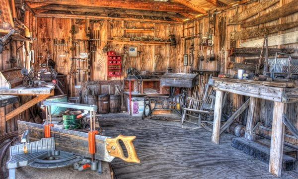 A photo of a carpentry shop in South Dakota.