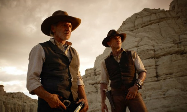 Harrison Ford appears alongside Daniel Craig in the 2011 film 'Cowboys and Aliens.'