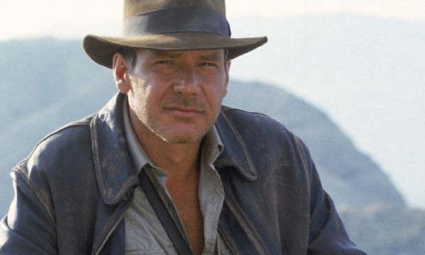 Harrison Ford appears in a scene from the 1989 film 'Indiana Jones and the Last Crusade.'