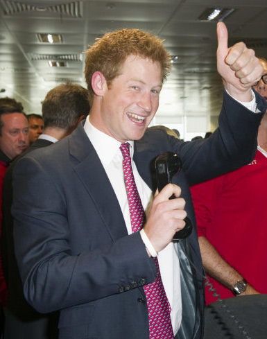 Prince Harry attends the BGC Charity Trading Day...