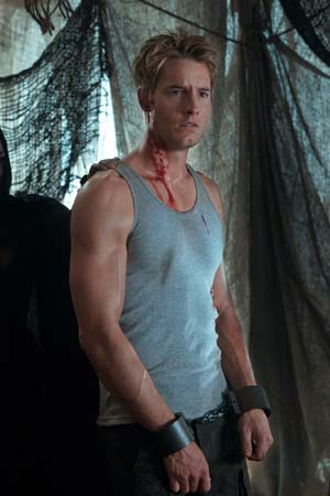 Justin Hartley appears as Oliver Queen on the...