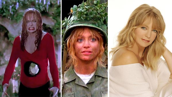 Goldie Hawn appears in scenes from 'Death Becomes Her' and 'Private Benjamin.' / Goldie Hawn appears in an undated Twitter profile photo.