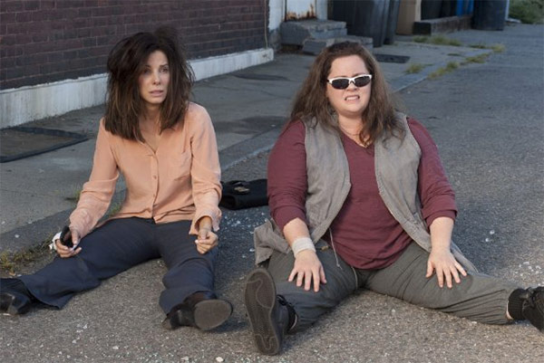 "<div class=""meta ""><span class=""caption-text "">Sandra Bullock and Melissa McCarthy appear in a scene from the 2013 movie 'The Heat.' Bullock plays an FBI agent and McCarthy plays a foul-mouthed Boston cop. They team up to try to nab a ruthless drug lord. (Twentieth Century Fox Film Corporation)</span></div>"