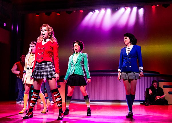 This image released by Vivacity Media Group shows the cast in a scene from the musical &#39;Heathers&#39; performing at New World Stages in New York. <span class=meta>(AP Photo &#47; Vivacity Media Group, Chad Batka)</span>