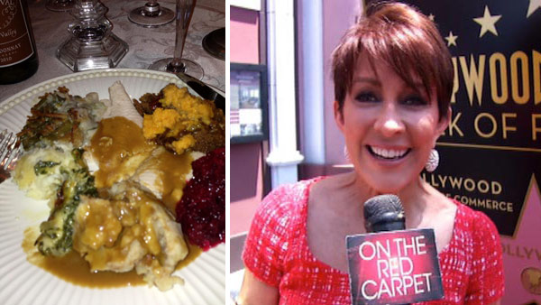 Patricia Heaton of ABC&#39;s &#39;The Middle&#39; and &#39;Everybody Loves Raymond&#39; Tweeted this photo on Thanksgiving - Nov. 22, 2012, saying: &#39;I wasn&#39;t gonna est Amy carbs this turkey day ... I lied &#40;sic&#41;.&#39; Pictured right: Patricia Heaton speaks to OTRC.com after receiving a star on the Hollwood Walk of Fame on May 22, 2012. She is the second star of &#39;Everybody Loves Raymond&#39; to receive the honor, after Doris Roberts. <span class=meta>(twitter.com&#47;howied&#47;status&#47;271751543533993985&#47;photo&#47;1)</span>