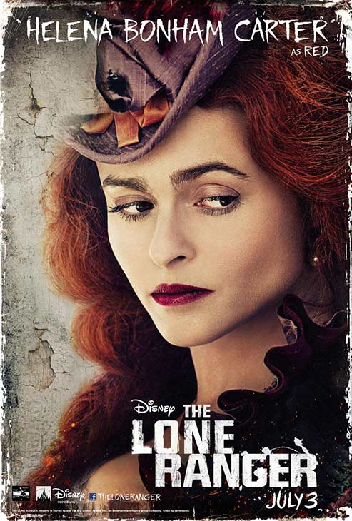 Helena Bonham Carter appears in an official poster for Walt Disney's 2013 movie 'The Lone Ranger.'