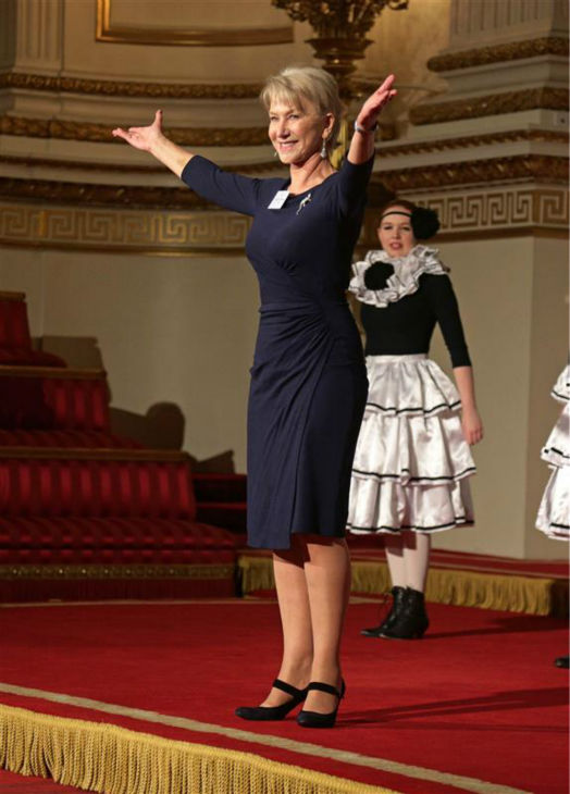 Dame Helen Mirren appears at the Reception for the Dramatic Arts at Buckingham Palace on Feb. 17, 2014. <span class=meta>(Rex Features &#47; Startraksphoto.com)</span>