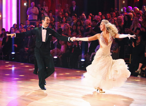 Helio Castroneves and Chelsie Hightower appear in a still from 'Dancing With The Stars: All-Stars