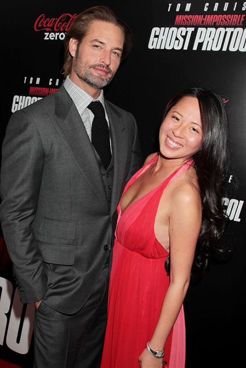 Josh Holloway and his wife Yessica Kumala appear at the premiere of 'Mission: Impossible - Ghost Protocol' in New York on Dec. 19, 2011. The actor is a cast member of the movie.
