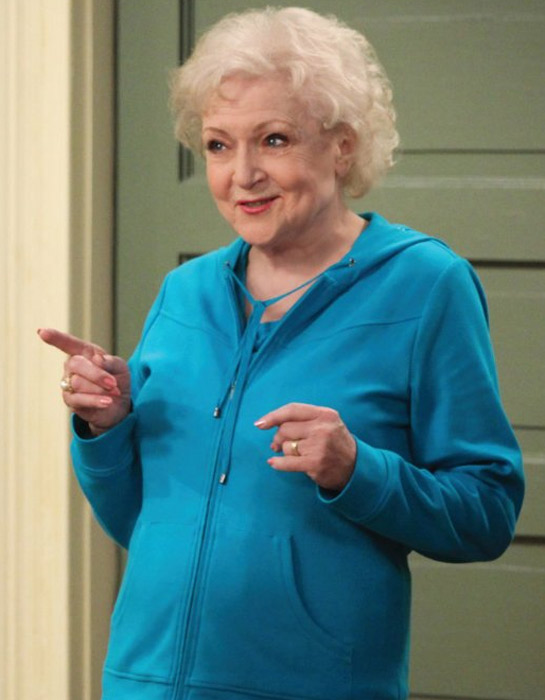 Betty White appears in a scene from the TV Land show 'Hot in Cleveland.'