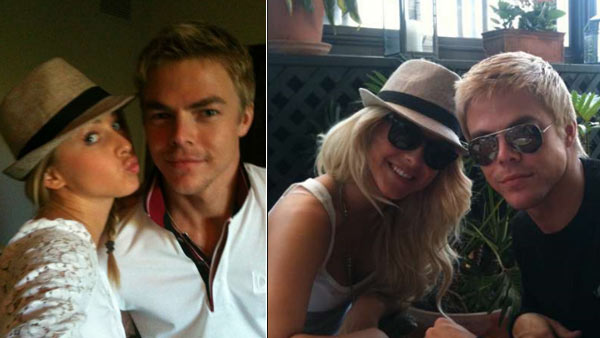 Hough appears in photos from her official Twitter page alongside brother Derek Hough.