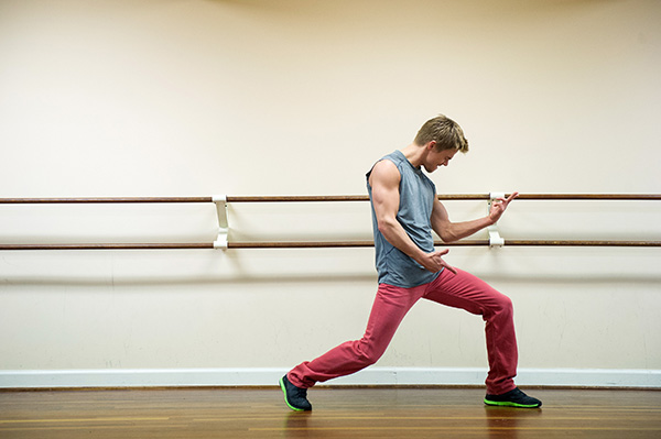 'Dancing With The Stars' season 16 cast member Derek Hough rehearses ahead of the premiere on March 18, 2013.