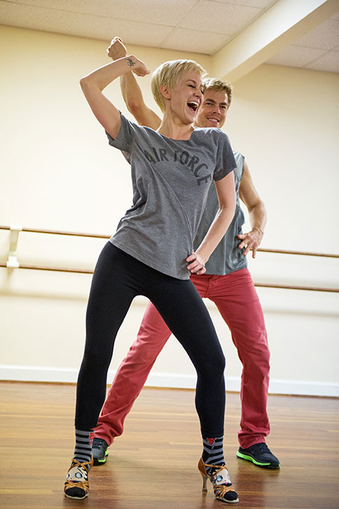 &#39;Dancing With The Stars&#39; season 16 cast members Kellie Pickler and Derek Hough rehearse ahead of the premiere on March 18, 2013. <span class=meta>(ABC Photo &#47; John LeMay)</span>