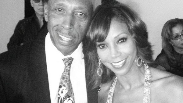 Holly Robinson Peete appears in a photo from her Twitter page alongside Jeffrey Osbourne whom she dubs her 'favorite performer.'
