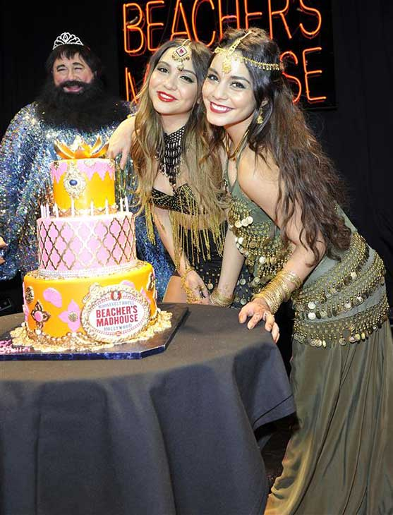 "<div class=""meta image-caption""><div class=""origin-logo origin-image ""><span></span></div><span class=""caption-text"">Vanessa Hudgens and sister Stella Hudgens celebrate Stella's 18th birthday at a Bollywood-themed bash at Beacher's Madhouse in Hollywood, California on Nov. 16, 2013. (Michael Simon / Startraksphoto.com)</span></div>"