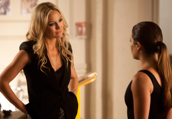 "<div class=""meta ""><span class=""caption-text "">Rachel (Lea Michele, right) takes a dance class from Cassandra (guest star Kate Hudson) at the New York Academy of the Dramatic Arts (NYADA) in 'The New Rachel, the season 4 premiere episode of 'Glee,' which airs on a new night and time - on Thursday, Sept. 13, 2012 at 9 p.m. ET on FOX. (Adam Rose / FOX)</span></div>"