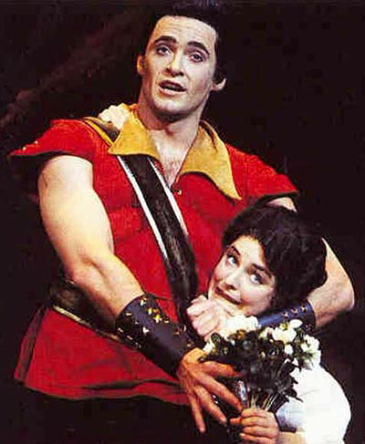 Hugh Jackman appears in a promotional photo for the Australian production of 'Beauty and the Beast' at the Princess Theatre in Melbourne in 1995.