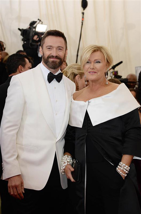 Hugh Jackman and wife Deborra Lee appear at the Metropolitan Museum of Art&#39;s 2014 Costume Institute Benefit gala, celebrating &#39;Charles James: Beyond Fashion,&#39; in New York on May 5, 2014. <span class=meta>(Briquet-Douliery &#47; Abaca &#47; Startraksphoto.com)</span>