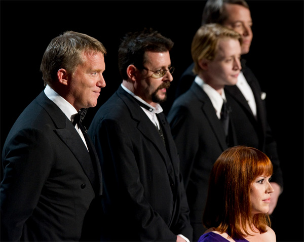 "<div class=""meta ""><span class=""caption-text "">Anthony Michael Hall, Judd Nelson, Molly Ringwald, Macaulay Culkin and Matthew Broderick present a John Hughes retrospective during the 82nd Annual Academy Awards at the Kodak Theatre in Hollywood, CA, on Sunday, March 7, 2010 (Matt Petit / ©A.M.P.A.S.)</span></div>"