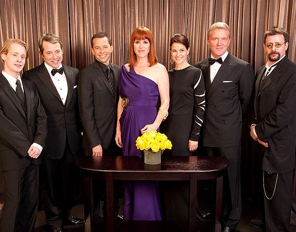Macaulay Culkin, Matthew Broderick, Jon Cryer, Molly Ringwald, Ally Sheedy, Anthony Michael Hall, and Judd Nelson backstage during the 82nd Annual Academy Awards at the Kodak Theatre in Hollywood, CA, on Sunday, March 7, 2010.