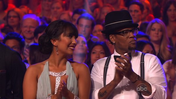 Actor and comedian D.L. Hughley and his partner Cheryl Burke prepare to dance on week 2 of &#39;Dancing With The Stars,&#39; which aired on March 25, 2013. <span class=meta>(ABC Photo &#47; Adam Taylor)</span>