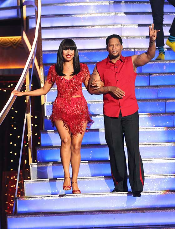 Actor and comedian D.L. Hughley and his partner Cheryl Burke prepare to dance on the season 16 premiere of &#39;Dancing With The Stars,&#39; which aired on March 18, 2013. They received 12 out of 30 points from the judges for their Cha Cha Cha  routine. <span class=meta>(ABC Photo &#47; Adam Taylor)</span>