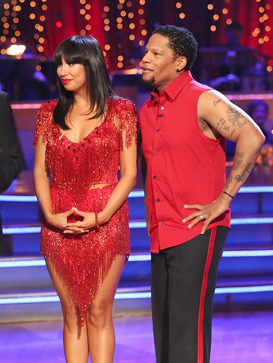 Actor and comedian D.L. Hughley and his partner Cheryl Burke received 12 out of 30 points from the judges for their Cha Cha Cha  routine on the season premiere of &#39;Dancing With The Stars,&#39; which aired on March 18, 2013 <span class=meta>(ABC Photo)</span>