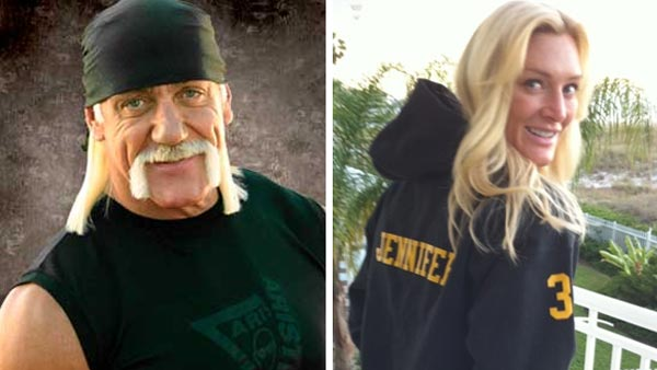Wrestling legend Hulk Hogan, 57, and Jennifer McDaniel, 35, in undated 2010 photos posted on Hogan's Twitter page.