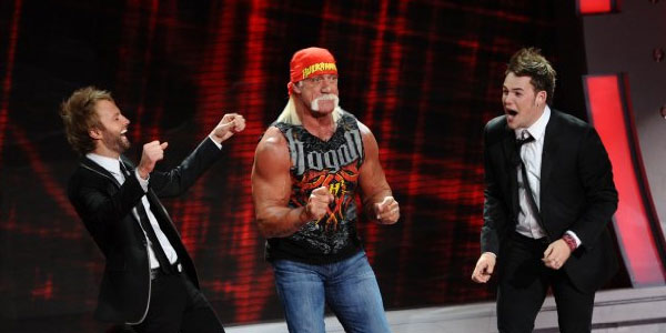 Hulk Hogan appears in a scene from an appearance...