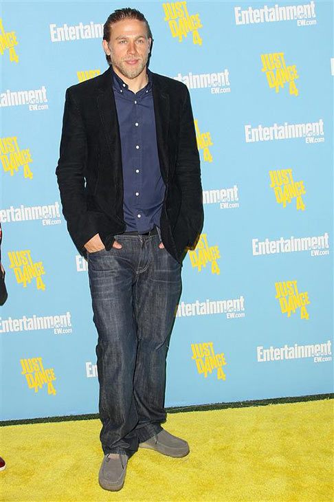 the &#39;Jax-Would-Go-To-Comic-Con-For-The-Princess-Leia-Babes&#39; stare: Charlie Hunnam of &#39;Sons of Anarchy&#39; fame appears at Entertainment Weekly&#39;s Comic-Con party inside the Hard Rock Hotel in San Diego during Comic-Con 2012 on July 14, 2012. <span class=meta>(Paul A. Hebert &#47; Startraksphoto.com)</span>