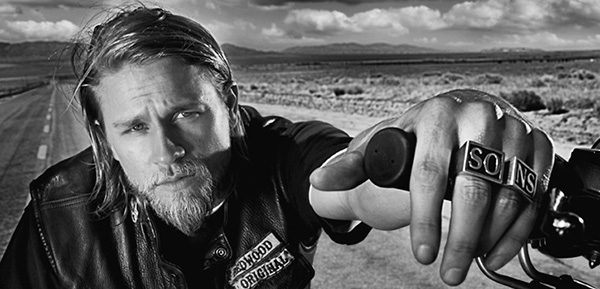 "<div class=""meta ""><span class=""caption-text "">The 'Redwood-Original-Sam-Cro-Forever' stare: Charlie Hunnam of 'Sons of Anarchy' fame appears in a publicity photo for season 6 of the FX show. (Frank Micelotta /  Invision for FX)</span></div>"