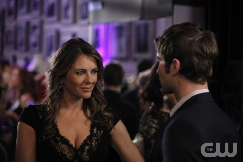 Elizabeth Hurley appears in a scene from the CW...