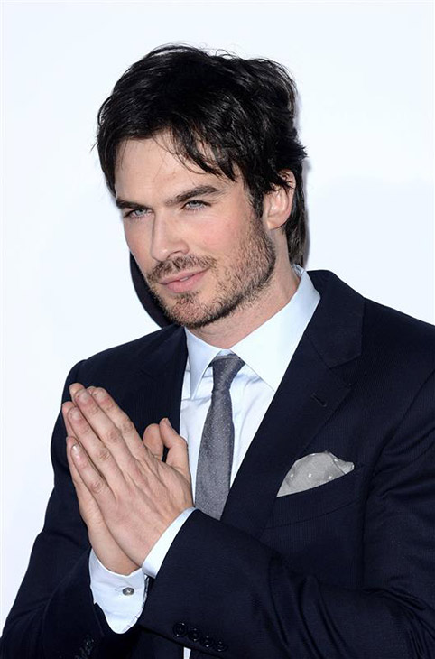 The &#39;Up-To-Something&#39; stare: Ian Somerhalder of the CW show &#39;The Vampire Diaries&#39; appears at the 2014 People&#39;s Choice Awards at the Nokia Theatre in Los Angeles on Jan. 8, 2014. <span class=meta>(Lionel Hahn &#47; AbacaUSA &#47; startraksphoto.com)</span>