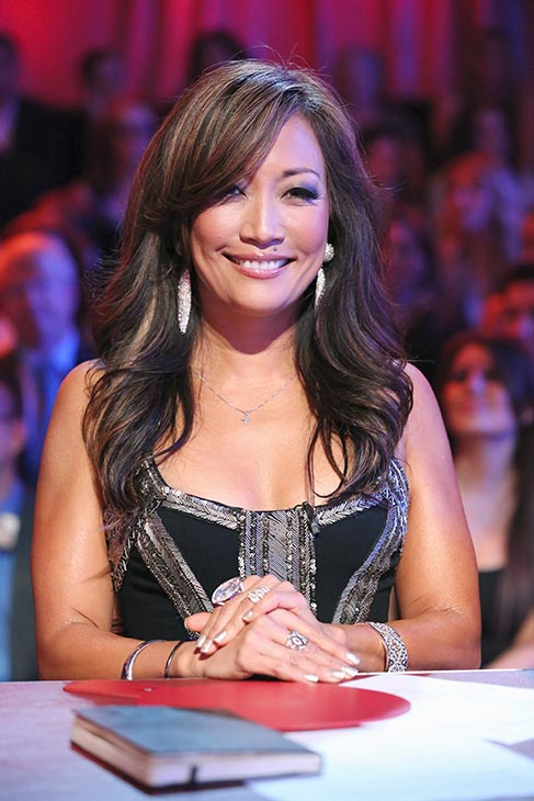 "<div class=""meta ""><span class=""caption-text "">'Dancing With The Stars' co-judges Carrie Ann Inaba, Len Goodman and Bruno Tonioli appear on the season premiere on March 18, 2013. (ABC Photo / Adam Taylor)</span></div>"