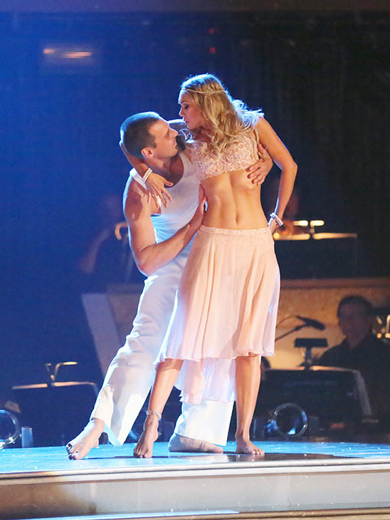 Actor Ingo Rademacher and his partner Kym Johnson received 20 out of 30 points from the judges for their Contemporary routine on the season premiere of &#39;Dancing With The Stars,&#39; which aired on March 18, 2013. <span class=meta>(ABC Photo)</span>