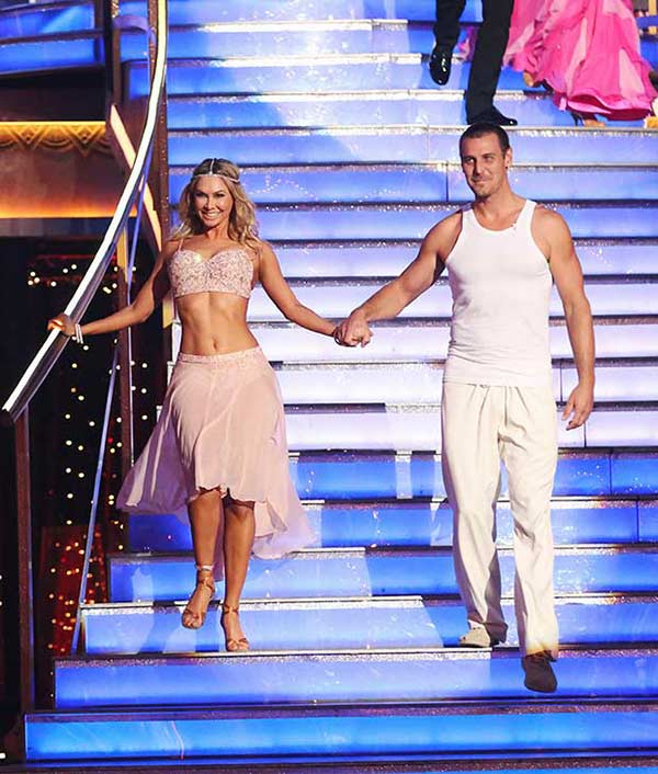 Actor Ingo Rademacher and his partner Kym Johnson prepare to dance on the season 16 premiere of &#39;Dancing With The Stars,&#39; which aired on March 18, 2013. They received 20 out of 30 points from the judges for their Contemporary routine. <span class=meta>(ABC Photo &#47; Adam Taylor)</span>
