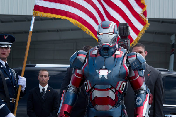 Iron Patriot appears in a scene from Marvel's...