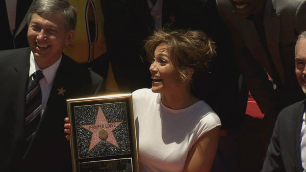 Jennifer Lopez receives her star on the Hollywood Walk of Fame on Thursday, June 20. The star is located at 6262 Hollywood Boulevard in front of the W Hollywood Hotel.  <span class=meta>(OTRC)</span>