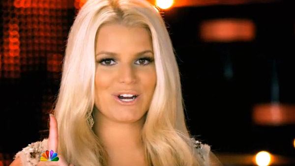 Jessica Simpson appears in a scene from the NBC...