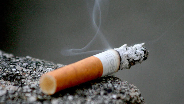A photo of a cigarette.