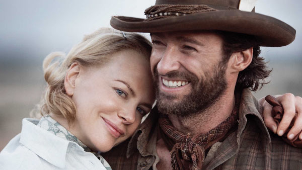 Hugh Jackman and Nicole Kidman appear in a scene...