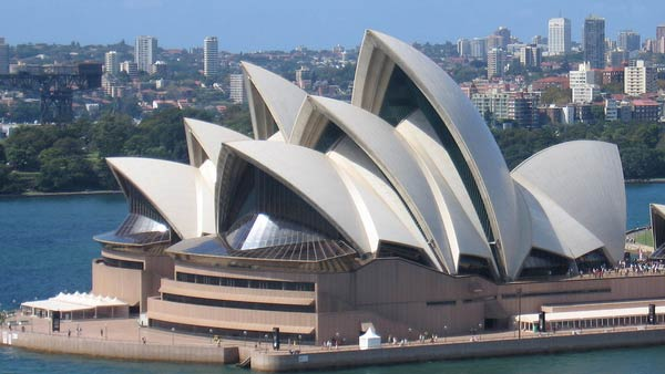 A photo of the Opera House in Sydney, Australia from 2008.