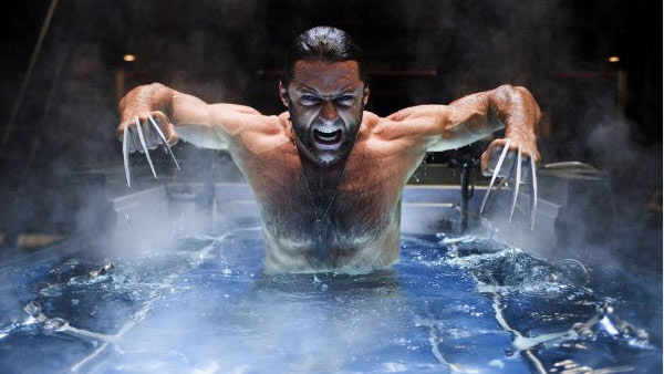 Hugh Jackman appears in a scene from the 2009 film 'X-Men Origins: Wolverine.'