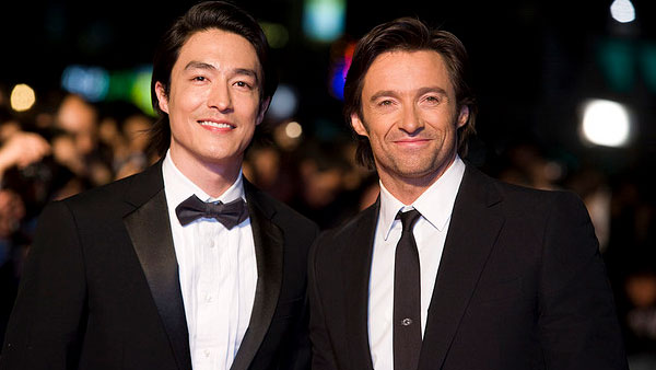 Hugh Jackman and Daniel Henney appear in a photo from a promotional event for their movie 'X-Men Origins: Wolverine' in Seoul, South Korea in 2009.