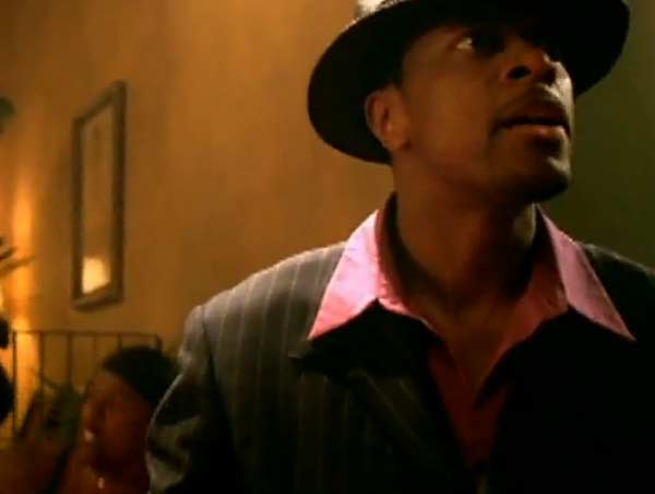 Tucker appears in a scene from the 2001 music video 'You Rock My World.'
