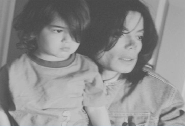 Michael Jackson and his youngest child, son Blanket, are seen in this undated photo presented as evidence during the singer's wrongful death trial in Los Angeles on June 26, 2013. His family is suing concert promoter AEG Live.