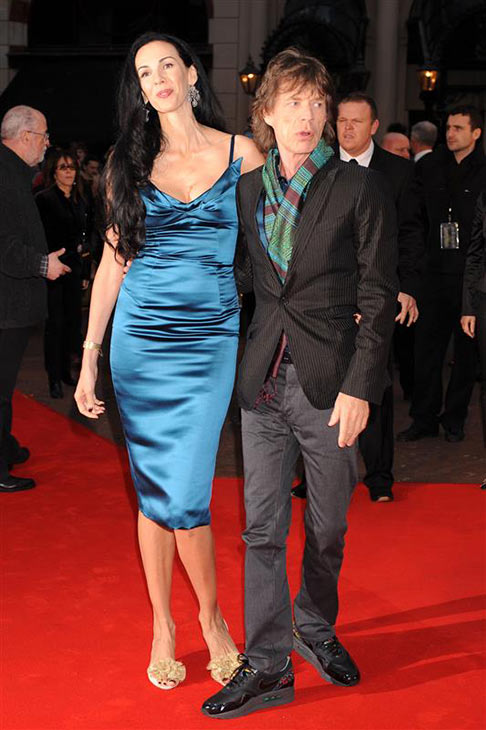 L&#39;Wren Scott appears with partner Mick Jagger at the premiere of &#39;Shine A Light&#39; in London on April 2, 2008. <span class=meta>(Richard Young &#47; Rex &#47; Startraksphoto.com)</span>