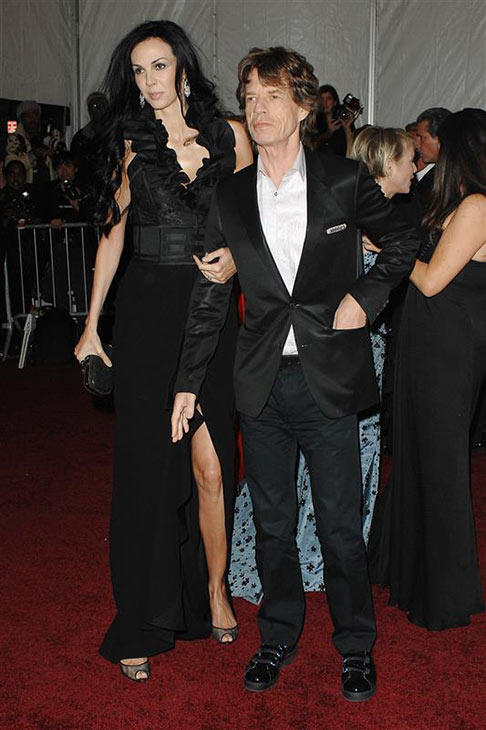 L&#39;Wren Scott appears with partner Mick Jagger at the Poiret: King of Fashion Costume Institute Gala at the Metropolitan Museum of Art in New York on May 7, 2007. <span class=meta>(Humberto Carreno &#47; Startraksphoto.com)</span>