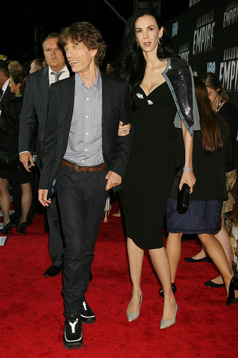 L&#39;Wren Scott appears with partner Mick Jagger at the premiere of HBO&#39;s &#39;Boardwalk Empire in New York on Sept. 15, 2010. <span class=meta>(Dave Allocca &#47; Startraksphoto.com)</span>